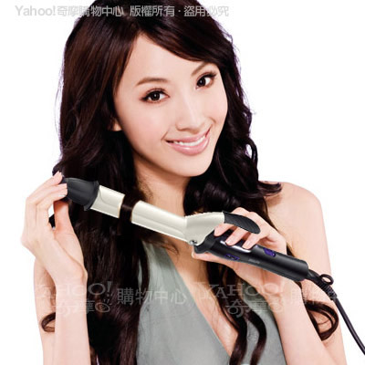 飛利浦沙龍級珍珠陶瓷溫控魔髮電棒捲HP8605-快速到貨
