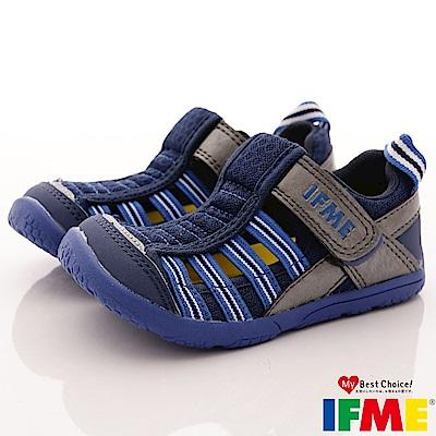 IFME健康機能鞋 排水速乾款 EI02066藍(小童段)