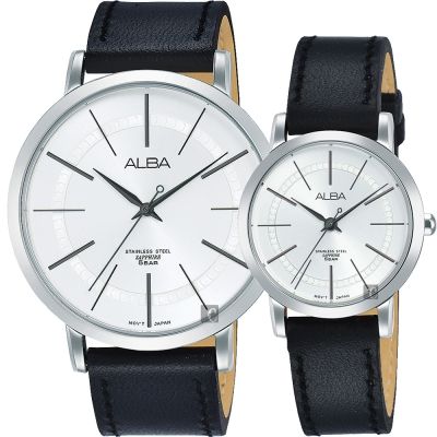 ALBA雅柏 東京情人時尚對錶(AH8479X1+AH8481X1)-44+28mm