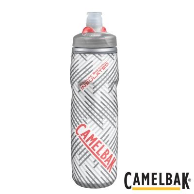 《CAMELBAK》加大保冷噴射水瓶-750ml 銀白香柚(CB1301004075)