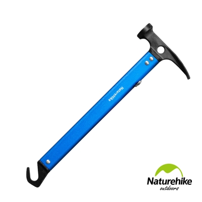Naturehike 戶外多功能鋁合金地釘鎚 營鎚 藍色-急