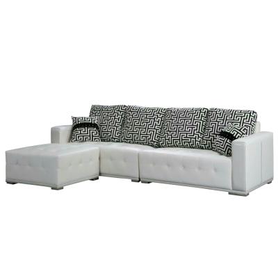 Boden-凱特厚牛皮L型沙發