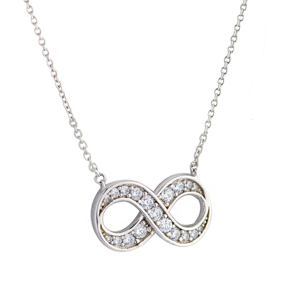 Crislu 無限鋯石銀色項鍊