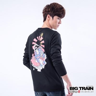 BIG TRAIN 恃之刀魂印花TEE-男-黑