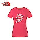 The North Face北面女款粉色透氣休閒短袖T恤