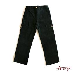 氣質雙邊大口袋素面長褲*2489黑