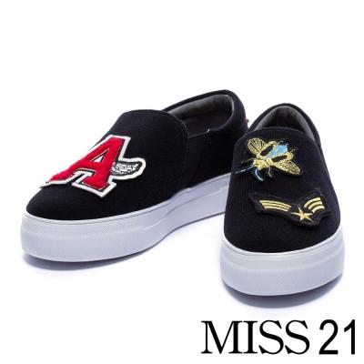 休閒鞋-MISS-21-酷玩童趣活動式魔鬼氈厚底休
