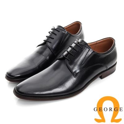 GEORGE 喬治-素面真皮底手工德比鞋-黑色