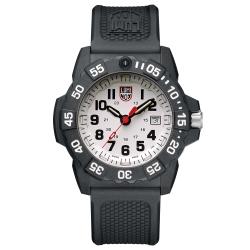 LUMINOX 雷明時NAVY SEAL 3500全新海豹2代系列腕錶-白x黑時標/45m