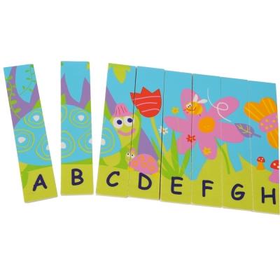 法國Boikido木製玩具-雙面字母拼圖