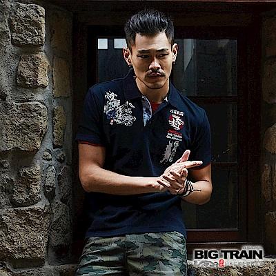 BIG TRAIN 戰國武將POLO衫-男-深藍