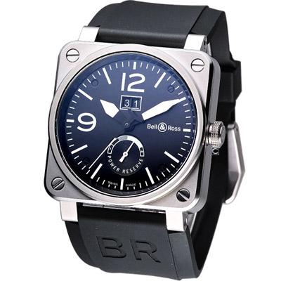 Bell & Ross 動力儲存大視窗自動機械腕錶-黑/42mm