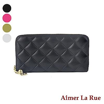 Aimer La Rue 菱格手拿拉鏈長夾系列(四色)