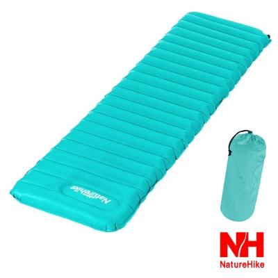 Naturehike 超輕折疊式收納單人充氣睡墊 地墊 防潮墊 小號 藍綠色-急