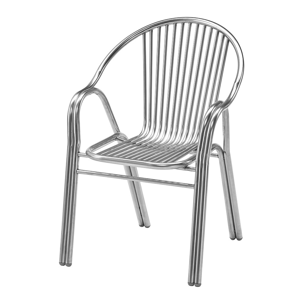 H&D 不銹鋼圓形有扶造型椅 (寬58X深57X高83cm)