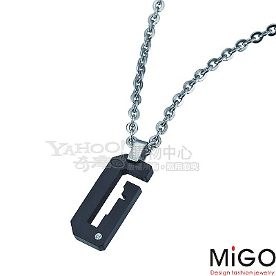 MiGO-牽手 白鋼男項鍊