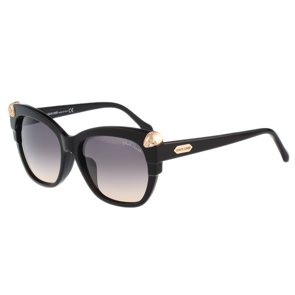 Roberto Cavalli 蛇頭造型 太陽眼鏡(黑色)