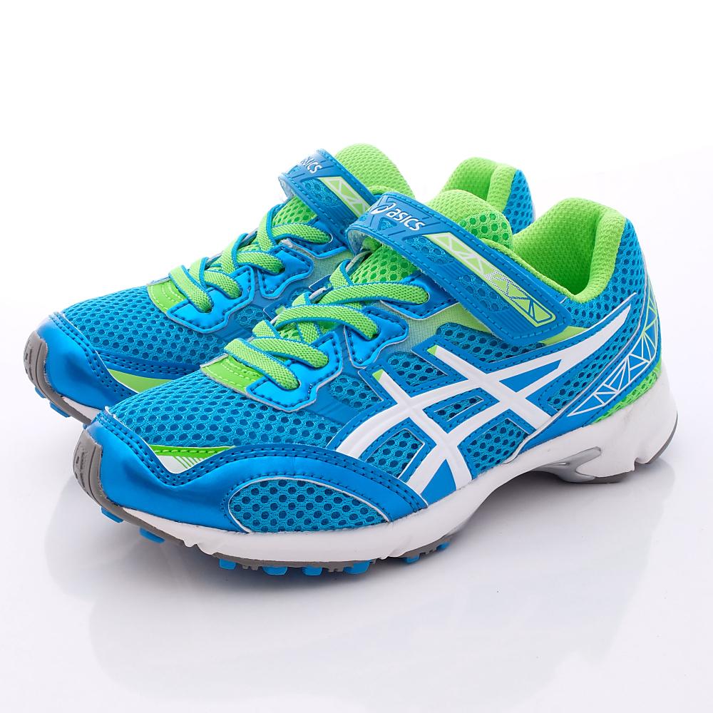 asics競速童鞋-經典透氣運動款-C6C8N-4101藍(中大童段)HN