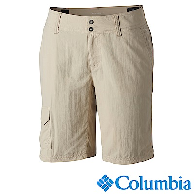Columbia哥倫比亞 女款-防曬50快排短褲 卡其 UAR40050KI