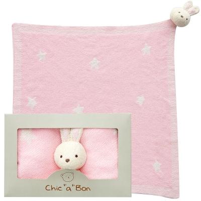 奇哥 玩偶柔舒毯-小兔
