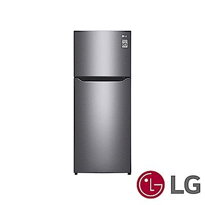 [無卡分期12期]LG樂金186公升Smart 變頻上下門冰箱(精緻銀)GN-I235DS