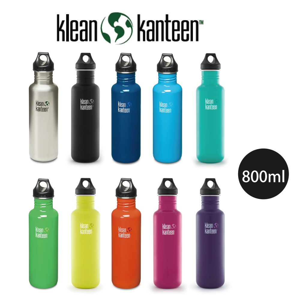 【美國Klean Kanteen】窄口不鏽鋼水瓶-800ml