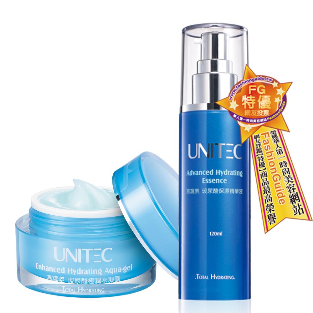 UNITEC彤妍 玻尿酸極潤保濕組(玻尿酸保濕精華液重量裝+極潤水凝露)