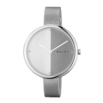 ELIXA Beauty時尚雙色錶盤米蘭帶系列 灰銀色40mm
