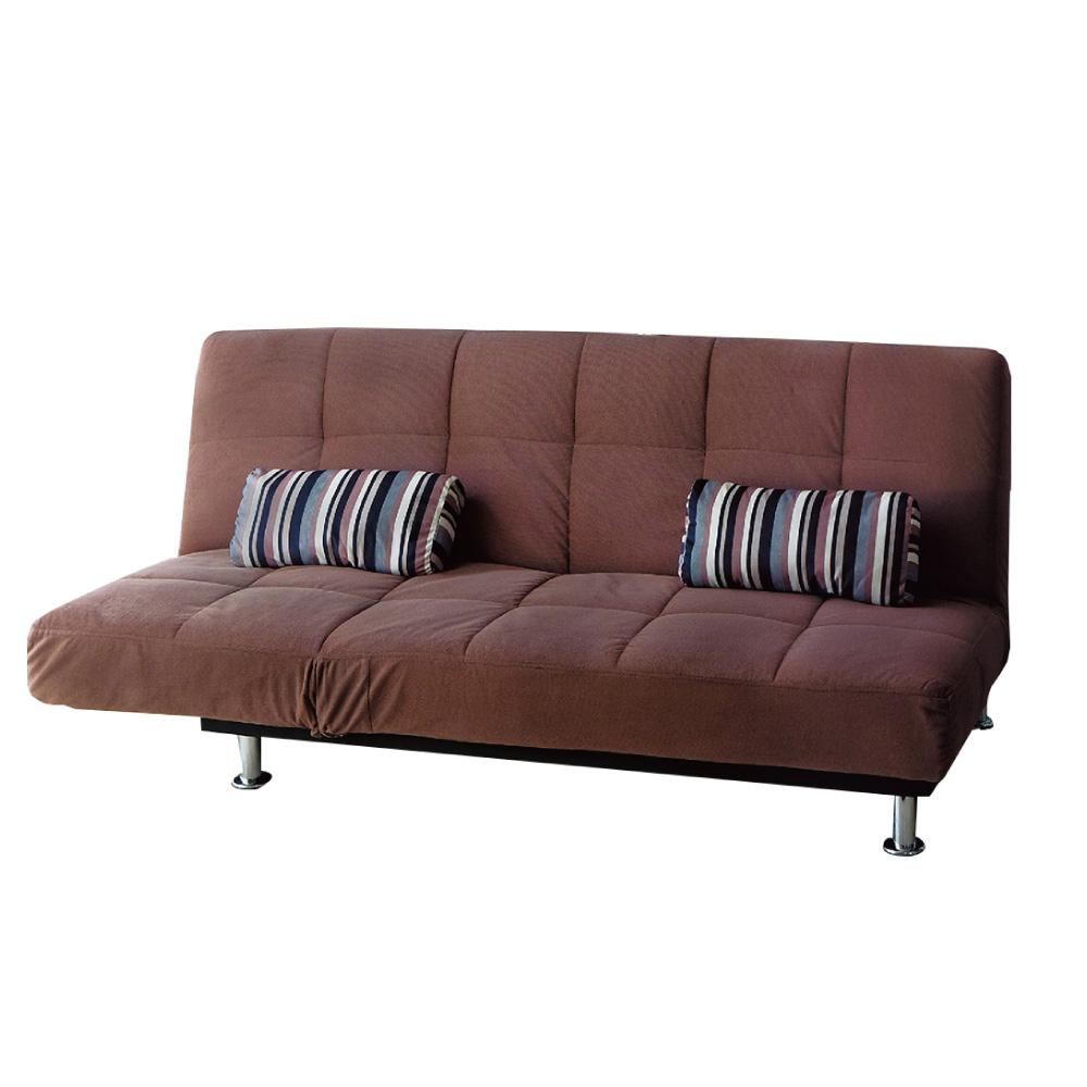 品家居 玫多絲絨布展開式沙發床-195x79x86cm-免組