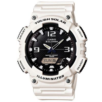 CASIO 新一代光動遊俠雙顯運動錶(AQ-S810WC-7A)-黑面/白色52mm