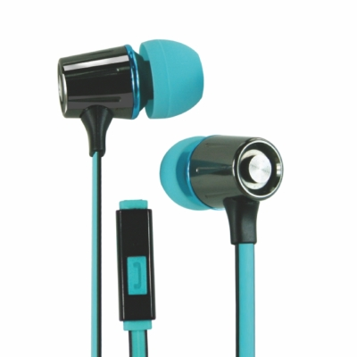 KINYO智慧型手機耳麥IPEM628-湖水藍