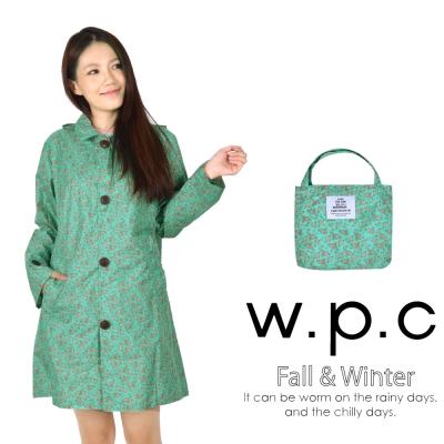 w.p.c 雛菊釦子款 時尚雨衣/風衣(R1041)_綠色