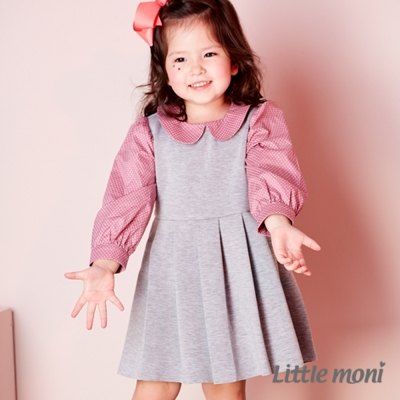 Little moni 太空棉拼接洋裝 (共2色)