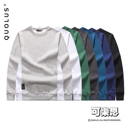 可樂思 高磅厚棉 素面 男生長袖T恤 刷毛大學T 長T 男