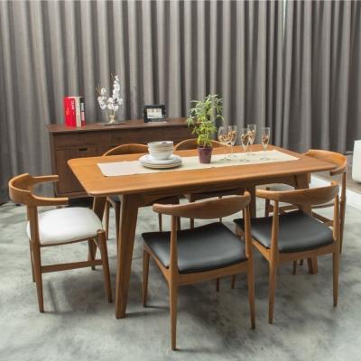 杰諾家居-普利亞全柚木實木餐桌-160x90x75cm