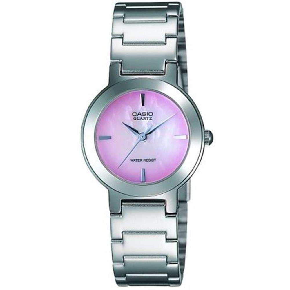 CASIO 時尚精緻小巧甜美淑女腕錶(LTP-1191A-4C)-珍珠母貝粉紅色/25.5