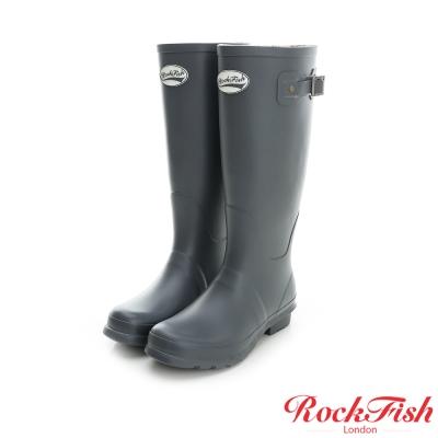 ROCKFISH 質感霧面長筒雨靴 酷色系列 率性灰