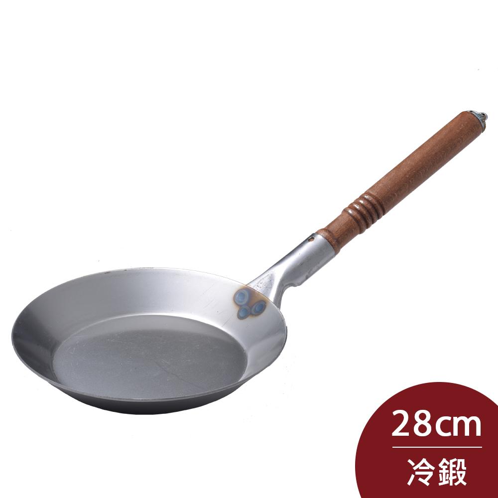 Turk 土克 冷鍛木柄鐵鍋 28cm 65028 德國製