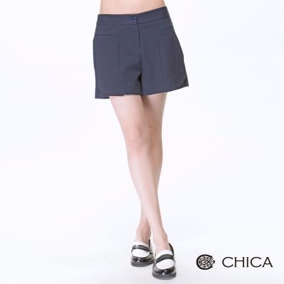 CHICA-極簡日本純棉寬褲管短褲-3色