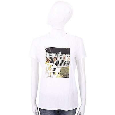 TORY BURCH Ardmore 相片圖案白色棉質T恤