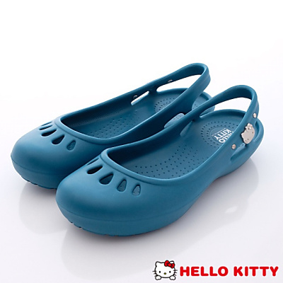 Hello Kitty-凱蒂縷空便鞋款-NI16122藍(女段)