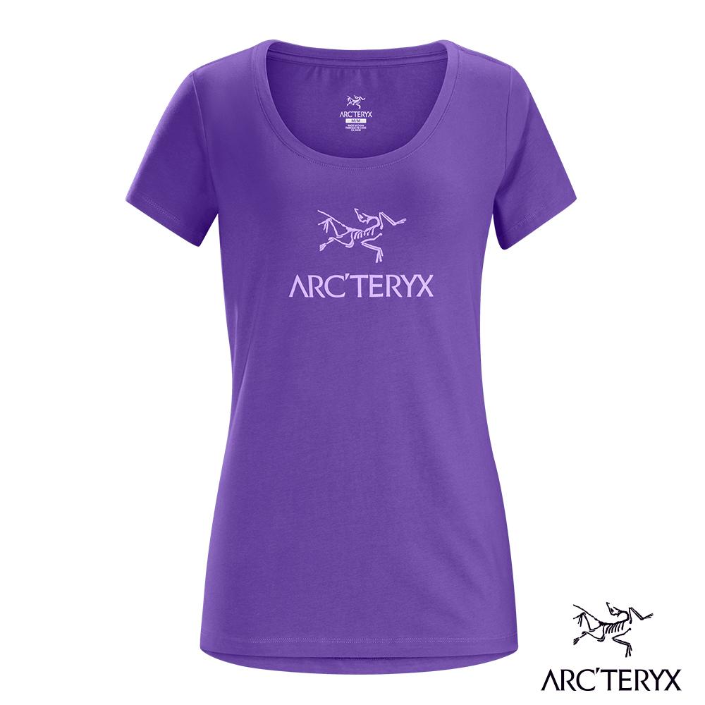 Arcteryx 24系列 女 有機棉 ARCWORD 短袖T 木槿紫