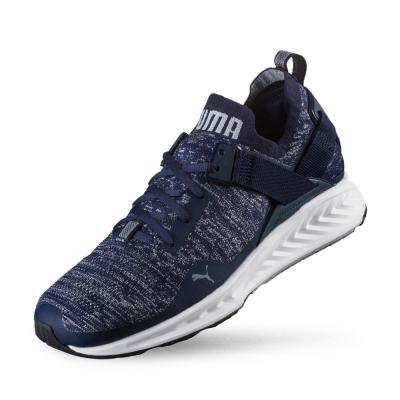 PUMA IGNITE evoKNIT Lo男性慢跑運動鞋-重深藍