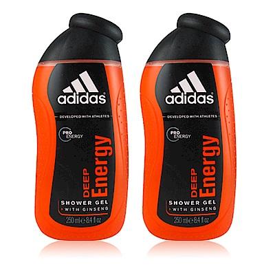 ADIDAS愛迪達 完美勁能男性香氛雙效沐浴膠250ml  (2入)