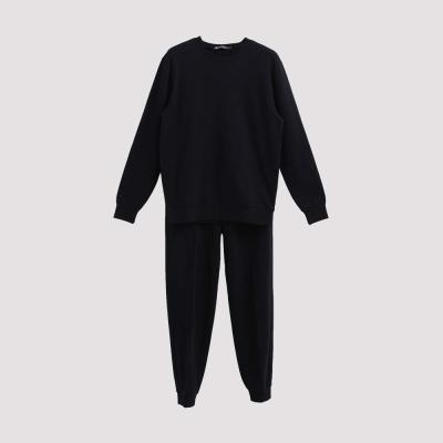 Hang Ten - 男裝 - 素面純色舒適運動套裝 - 黑