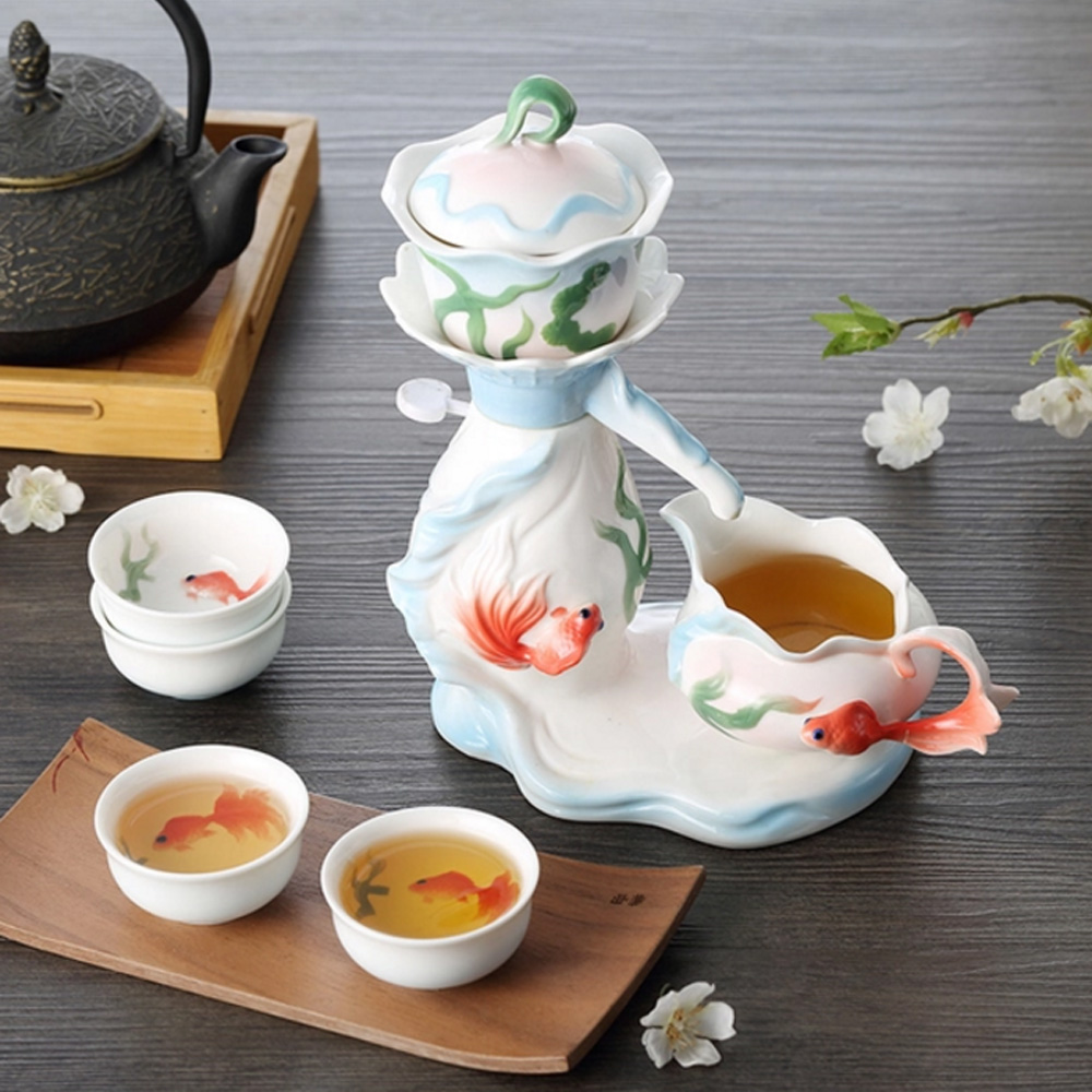 Pure 游魚戲水茶具七件組