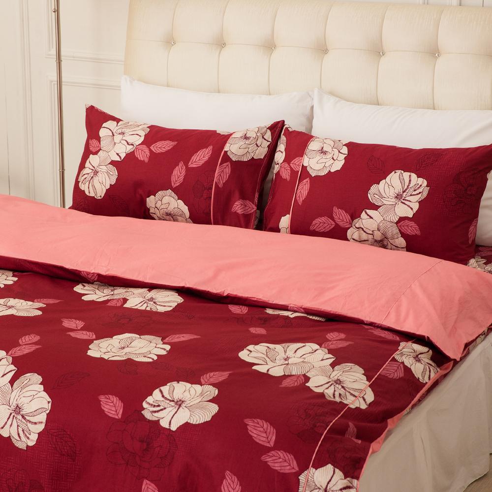 LAMINA  憂之戀-紅  雙人三件式精梳棉床包組