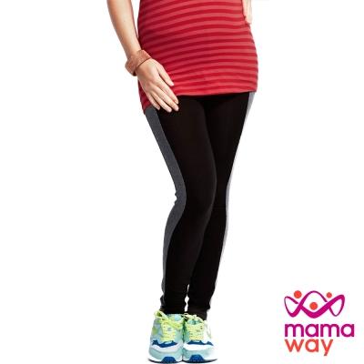 Mamaway 孕期側邊剪接全長內搭褲