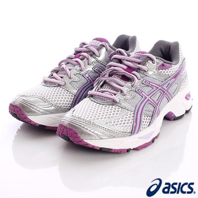 asics競速童鞋-透氣運動18N-9336銀紫(中童段)-N0