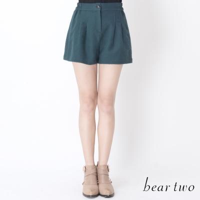 beartwo-低調華麗蕾絲打摺短褲-綠
